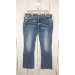 Miss Me Plus Size Jeans Easy Boot JE5871EL Size 36